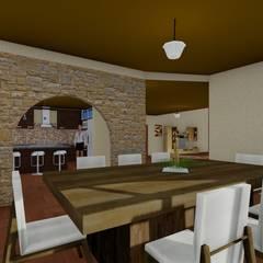 Comedor: Comedores de estilo rústico por OmaHaus Arquitectos