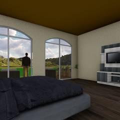 Habitación Principal: Recámaras de estilo rústico por OmaHaus Arquitectos