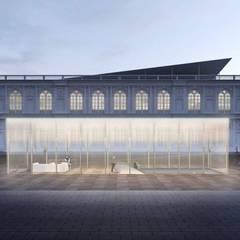 Concurso Museo Arte Contemporáneo: Salas / recibidores de estilo minimalista por ARCHITECTS