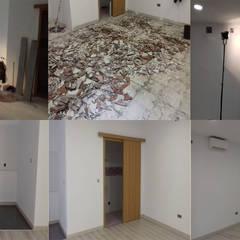 El antes y el después de reformar el interior del local : Salas multimedia de estilo  de Fengdeco