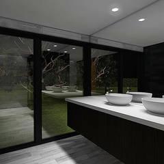 Casa Bravo - García, Ovalle, Chile: Baños de estilo  por Smartlive Studio