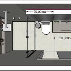 Banheiros  por homify , Moderno