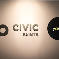 Y&T and Civic Paints Office:  Offices & stores by Y&T Pte Ltd
