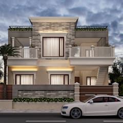 3D view after selecting all material:  Houses by Square Designs
