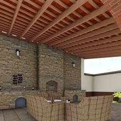 Palapa: Terrazas de estilo  por OmaHaus Arquitectos