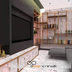 GO Design İç Mimarlık – N.D. Koşuyolu Villa Projesi:  tarz Oturma Odası