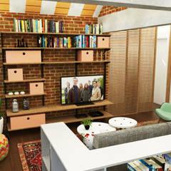 Casa Belo Horizonte Salas de estar ecléticas por Nume Design de Ambientes Eclético