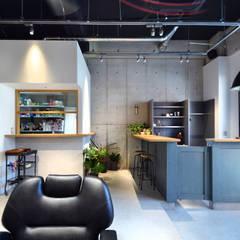 BARBER ink: TRANSFORM  株式会社シーエーティが手掛けたオフィススペース&店です。,インダストリアル