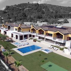 Vista geral: Ginásios  por DSA, Architects International