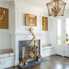 First Floor Foyer:  Corridor & hallway by Kellie Burke Interiors