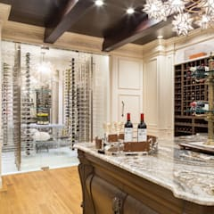 Wine cellar by Kellie Burke Interiors