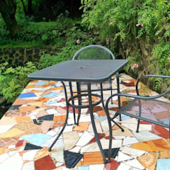 Terrace by Paisaje Radical, Rustic Metal