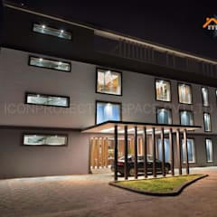 Front Facade:  Commercial Spaces by ICON PROJECTS INSPACE PVT.LTD