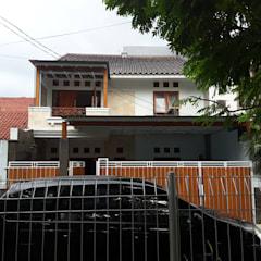 Renovasi Rumah Taman – Slipi . Jakarta Barat: Rumah oleh Vaastu Arsitektur Studio, Eklektik