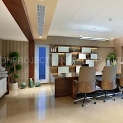 MD Cabin:  Commercial Spaces by ICON PROJECTS INSPACE PVT.LTD