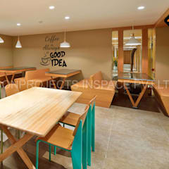 Cafeteria:  Commercial Spaces by ICON PROJECTS INSPACE PVT.LTD