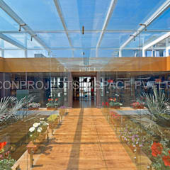 Skylight glass roof:  Commercial Spaces by ICON PROJECTS INSPACE PVT.LTD