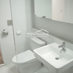 용인 동백동 동원로얄듀크 44평 아파트: 얀코인테리어의  욕실