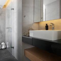 主臥浴室:  浴室 by 御見設計企業有限公司