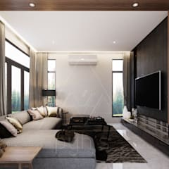 Living room by pyh's interior design studio
