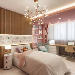 Quarto da Menina - Projeto em Brasília: Quarto infantil  por Marilia Zimmermann Arquitetura e Interiores