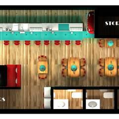 Planta del proyecto: Gastronomía de estilo  por Diseño de Locales