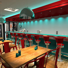 Barra del restaurant: Gastronomía de estilo  por Diseño de Locales