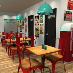 Diseño de restaurant Retro: Gastronomía de estilo  por Diseño de Locales