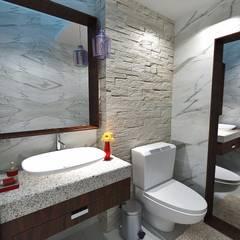 Wc para invitados: Baños de estilo  por Crearqtiva