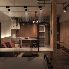 industrial Bedroom by DS&BA Design Inc 伊國設計