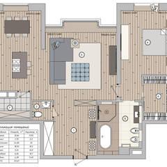План помещения: Стены в . Автор – Студия Элитного Жилья Александра Акименкова