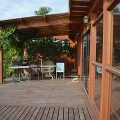 Terrace by Nido Arquitectos, Rustic
