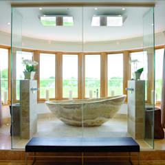 Bespoke AluClad Wood Casement Windows:  Wooden windows by Marvin Architectural