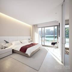 Interior, Dormitorio principal.: Dormitorios de estilo  de ARQuitrazos