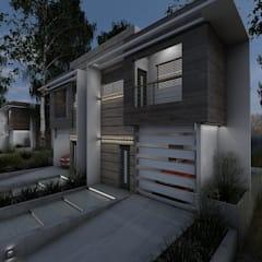 "Prototipo ""Vivienda Unifamiliar Pareada T. Townhouse"".: Casas unifamiliares de estilo  por Arq. Javier Chacín"
