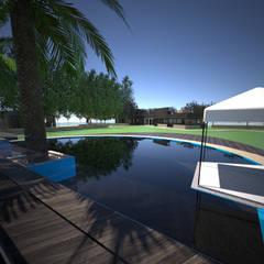 Estanques de jardín de estilo  por Toledo estudio Arquitectos