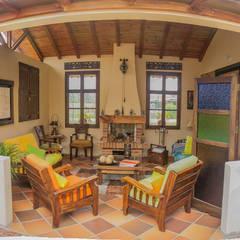 : Salas de estilo rural por Ensamble de Arquitectura Integral