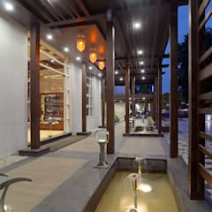 Entrance Collonade:  Hotels by Matai Associates