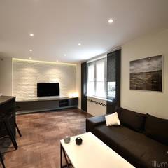 SALON: styl , w kategorii Pokój multimedialny zaprojektowany przez ILLUMISTUDIO