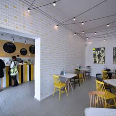 PRZESTRZENIE KOMERCYJNE - zdjęcia z realizacji: styl , w kategorii Bary i kluby zaprojektowany przez ILLUMISTUDIO