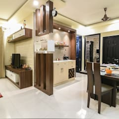 Two BHK - Whitefield:  Dining room by Wenzelsmith Interior Design Pvt Ltd