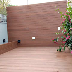Deck e Painel em Madeira Plástica: Paredes  por Ecopex