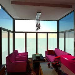 Proyecto PH Estilo Arte Pop: Livings de estilo  por C-Sic Interiorismo