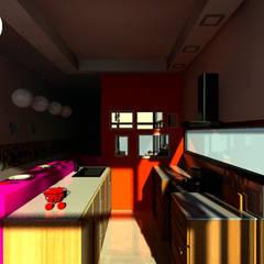 Proyecto PH Estilo Arte Pop: Cocinas de estilo ecléctico por C-Sic Interiorismo