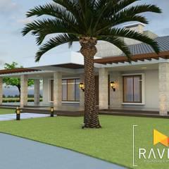 Projeto Arquitetônico - Casa de Campo: Casas familiares  por Ravifa - Arquitetura, Interiores e Engenharia