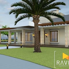 Casas unifamiliares de estilo  por Ravifa - Arquitetura, Interiores e Engenharia,