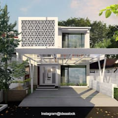 Renovasi Fasad dan penambahan lantai 2:  Rumah tinggal  by Idealook