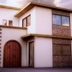 Fachada: Casas unifamiliares de estilo  por RRETH Arquitectos