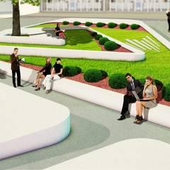 Jardinera : Jardines de piedra de estilo  por RRETH Arquitectos