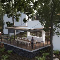 Kiosko: Terrazas de estilo  por de Silva Arquitectos